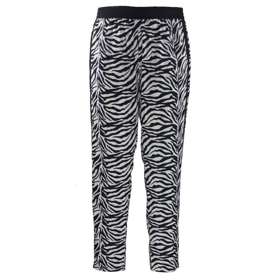 0a394f3bbcc Smarte sort/hvid mønstrede bukser (Studio)