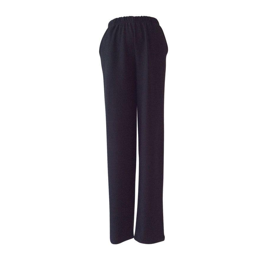 416a4c5b Løstsiddende sorte bukser i stor størrelse - Handberg (10428)