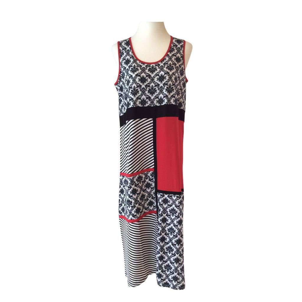 65063d7c3e2b Vidunderlig kjole uden ærmer - Handberg (22320)