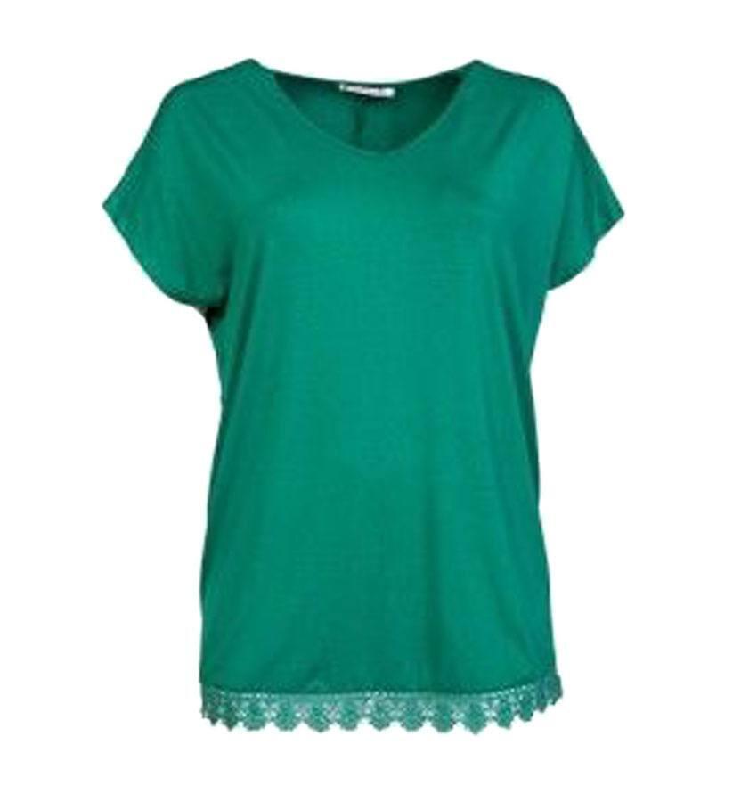 008b6e2f Sort T-shirt m. v-hals - Studio (S173831)