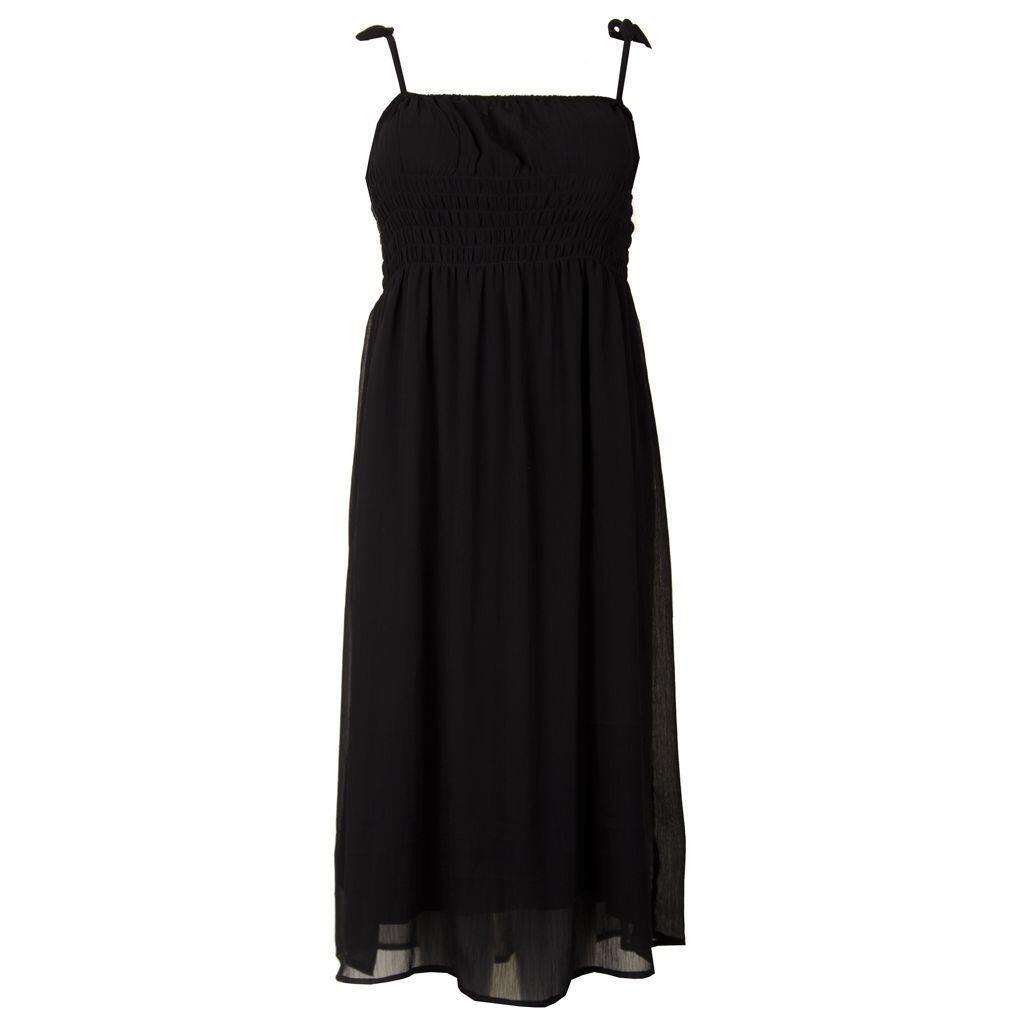 fa6973f5 Sort kjole i løs A-facon - Studio S173822