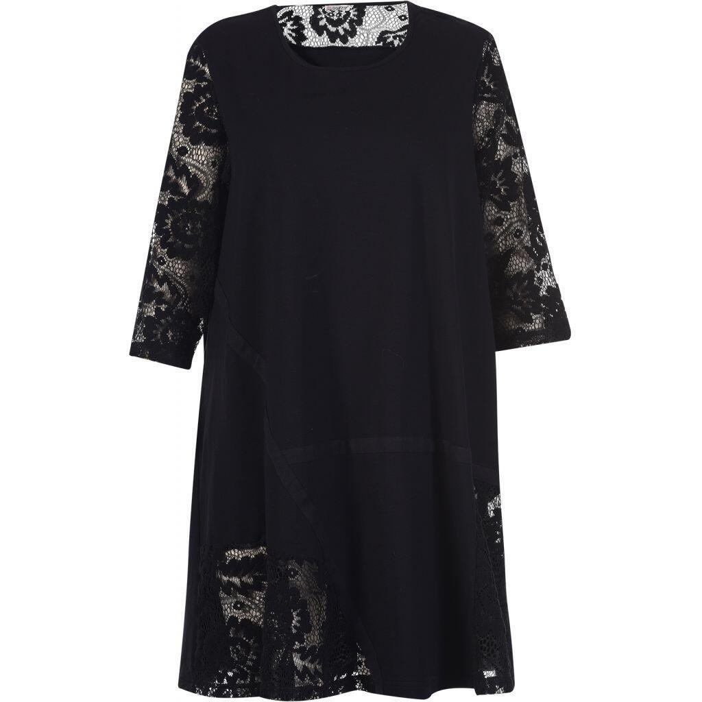 18550dd8021d Klassisk sort kjole m. mange detaljer - Gozzip G175046