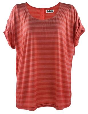 Deluca T-shirt (Coral stribet)