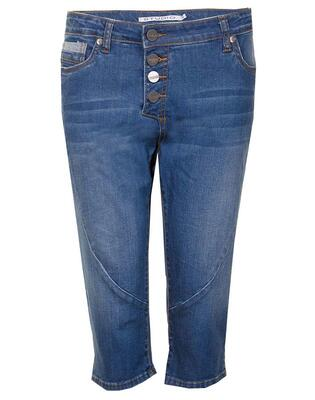 Blå capri jeans m. let stenvask (Fit 42 - Regular fit) - Studio
