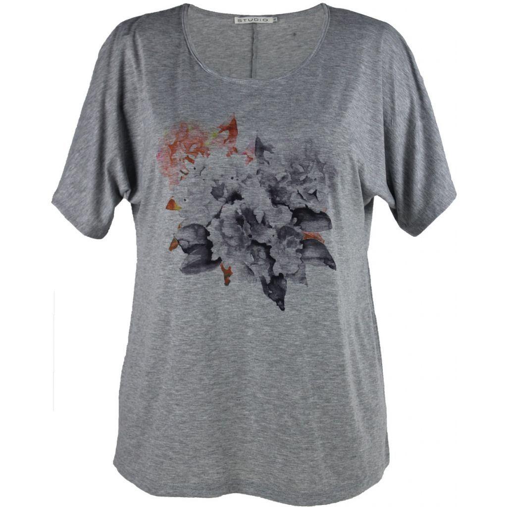Grå Studio T shirt m. print