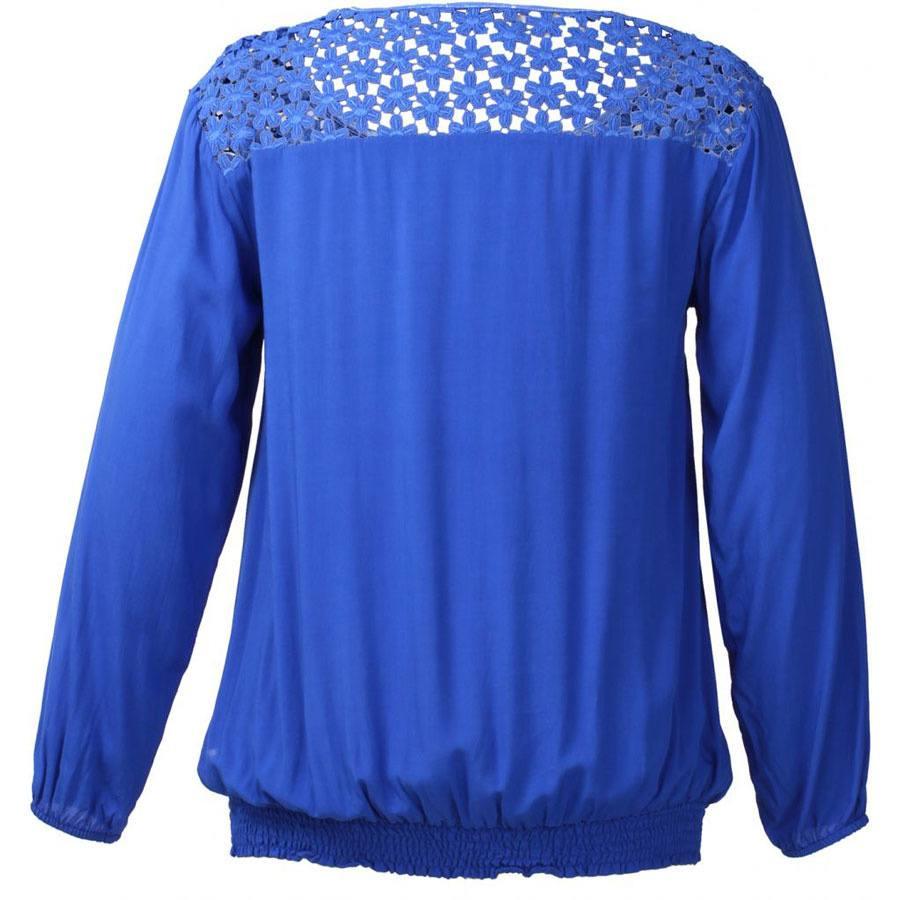 cb331204d21 Koboltblå bluse
