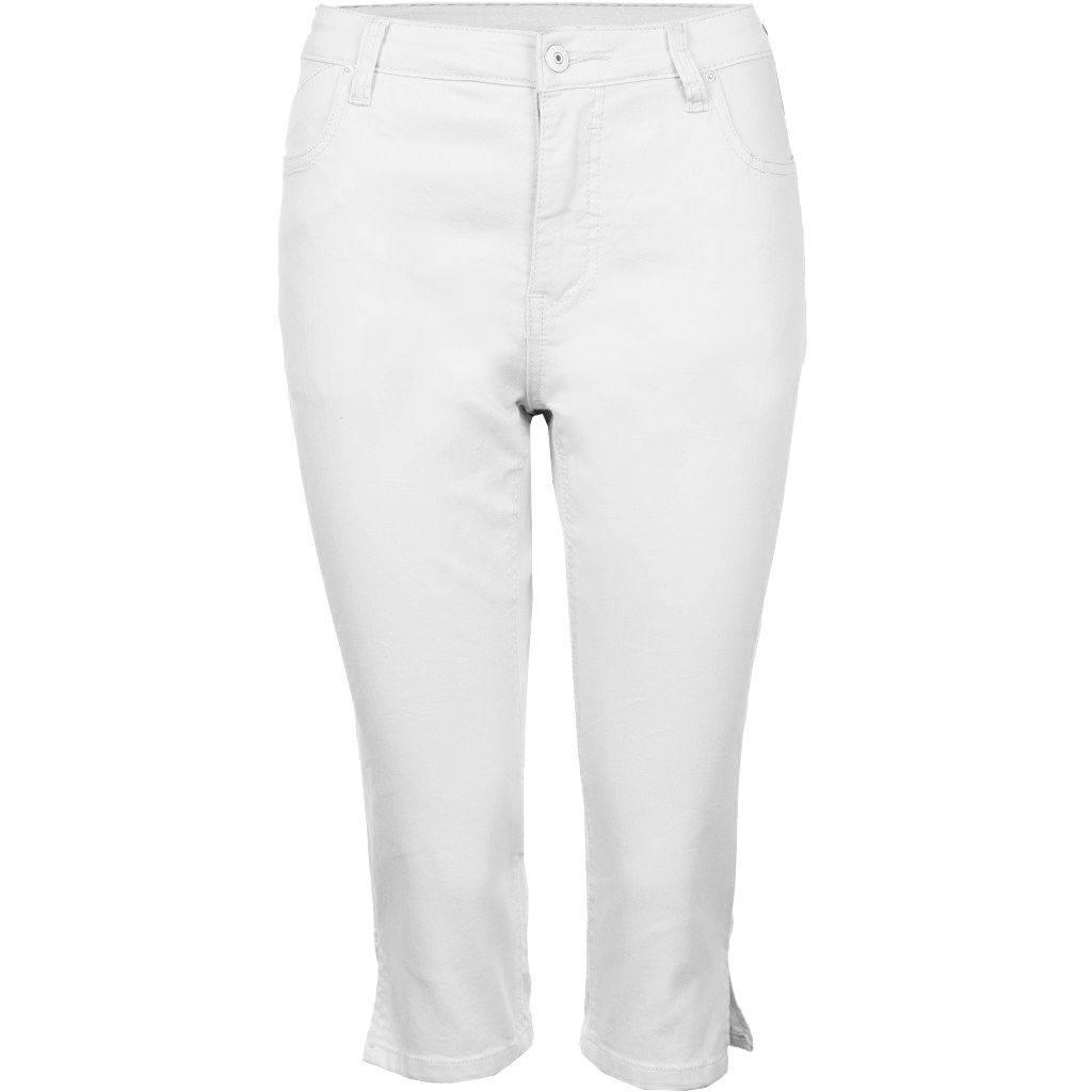 Hvide Capri bukser m. stræk (Fit 55) Studio