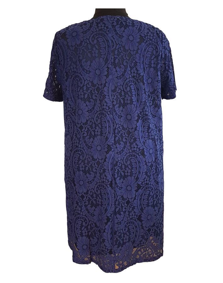 942d2084a Lang blå blonde tunika i A-facon - Studio (S172814)