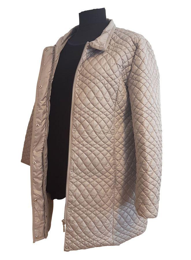 Klassisk quiltet grå jakke Loft Fashion