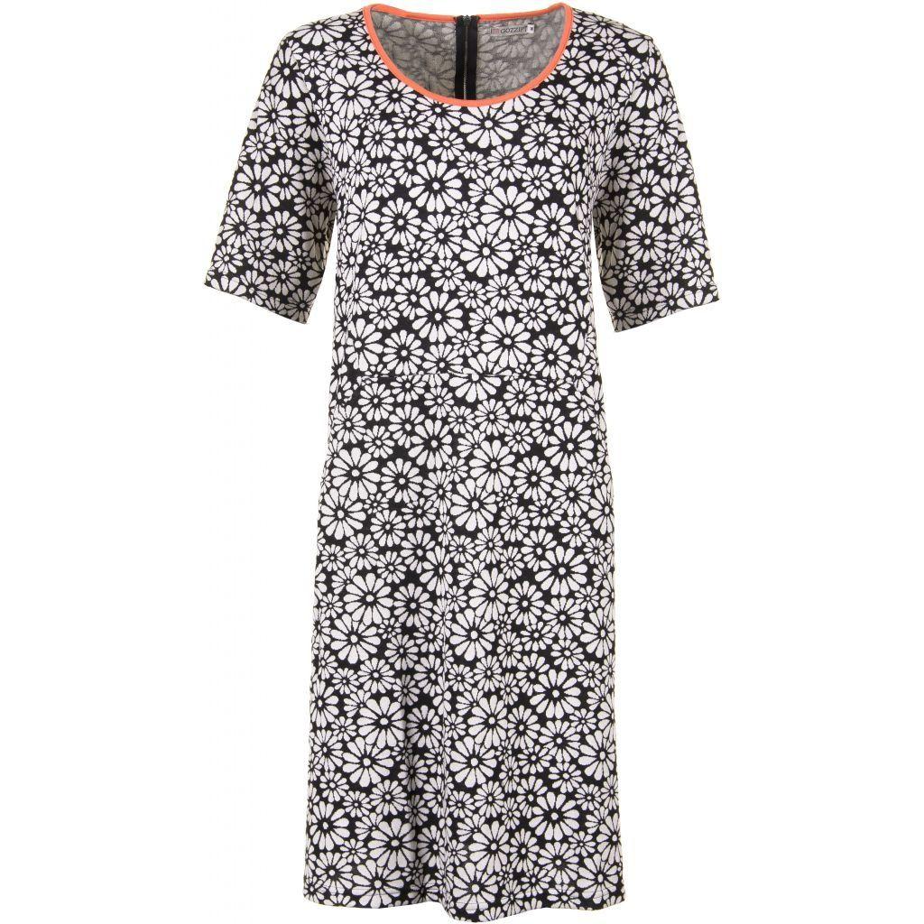 49f6bbe8 Ærmeløs sort kjole m. blomster print - Gozzip (G163002)