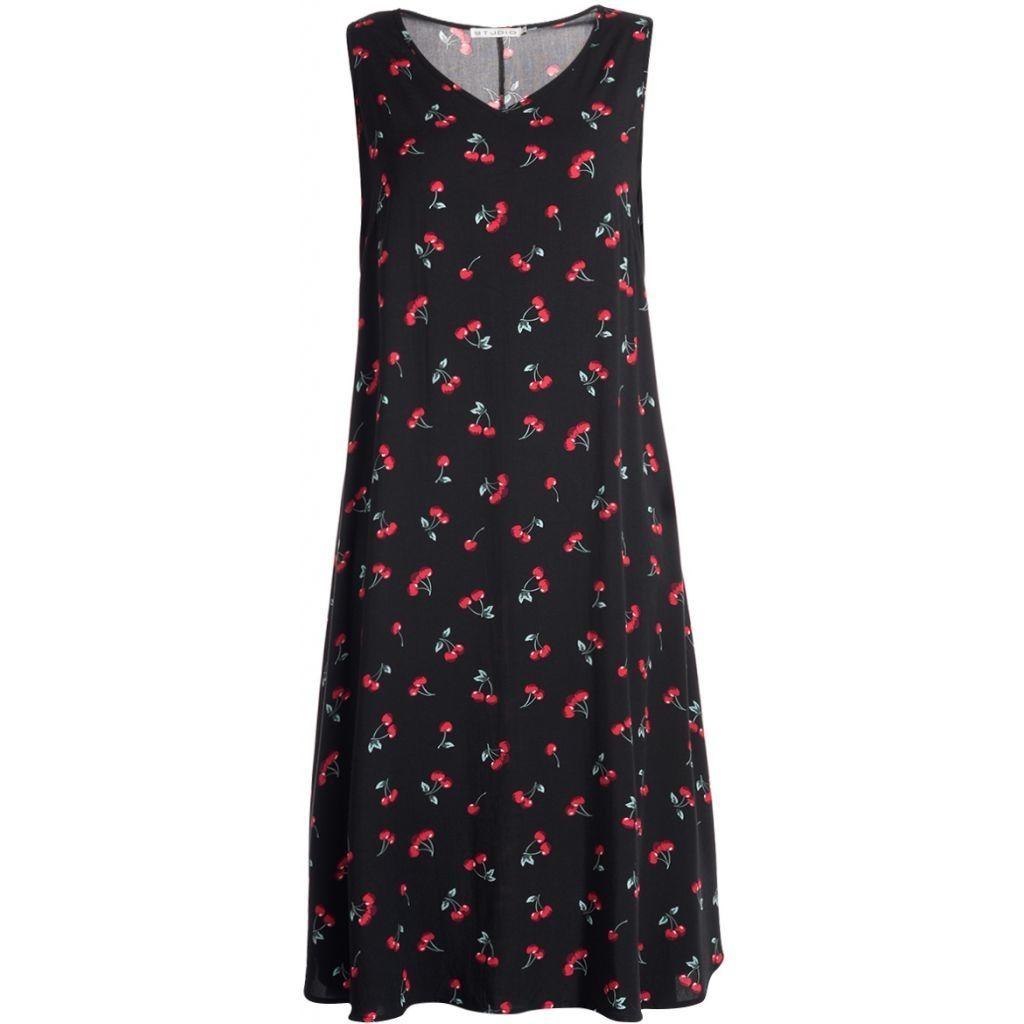 7aff3ff1 Super blød sort kjole med stretch - Studio (S173826)